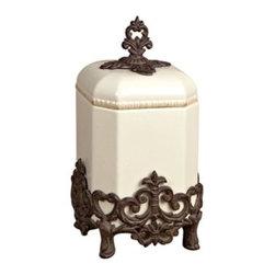 """GG Collection - The GG Collection Provencial Cream Canister, Small 14""""H - The GG Collection Provencial Cream Canister, Small 14""""H"""