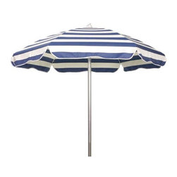 Fifthroom - 6' Octagon Traditional Sunbrella Umbrella w/Aluminum Pole and Manual Lift - For all of the sunny days in store, you'll need some shade, and a little bit more � and that's what this umbrella's for.  Made from beautiful Sunbrella fabric, our 6' Traditional Umbrella will keep you cool, while giving you up to 98% UV protection as well.  Available in 20 brilliant colors, this umbrella is water-repellent, mildew-resistant, and simple to clean, so it's ready to give you constant, reliable service throughout the summer � and beyond.