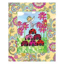 Oh How Cute Kids by Serena Bowman - Ladybug Pyramid, Ready To Hang Canvas Kid's Wall Decor, 24 X 30 - Few folk have seen a Fairy, But I found this one for you. If you believe with all your might, she'll make your dreams come true!