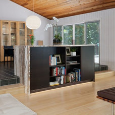Contemporary  BUILT-IN BUFFET/BOOKCASE