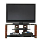 Bush - Bush Segments Wood TV Stand in Rosebud Cherry - Bush - TV Stands - VS1150503 -      The Bush Furniture Segments TV Stand is simple and elegant. This TV stand will bring a contemporary look to your home entertainment setting.  Features:
