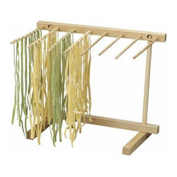 "Eppicotispai - Eppicotispai Natural Beechwood Collapsible Pasta Drying Rack - Perfect tool to dry your homemade spaghetti, tagliatelle, fettuccini, linguini, etcIt let you dry at the same time more than 10-square feet of pastaThe rack is collapsible is a less than a inch space (package item size are 0-3/4""ch by 13.9""ch by 9""ch) making it easier to storage and even easier to buildHandwash only and recommended to dry after washing. Product Dimensions: 13.9 x 9.2 x 11.5 in. . Made in Italy.."