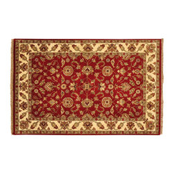 1800GetARug.com - Rajasthan Oriental Rug, 4'X6' Hand Knotted 100% Wool Thick And Plush Rug Sh12741 - Rajasthan Oriental Rug, 4'X6' Hand Knotted 100% Wool Thick And Plush Rug Sh12741