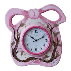 Albert Tribuiani - Bow Clock - Great for the Princess in your life, this clock is a perfect addition to any room! 3D pieces complete the look! Albert is a decor artist who has been creating designs for celebrities for over 50 years. Albert creates each piece by hand, which making every design one-of-a-kind.  (Clock only; additional items sold separately.)