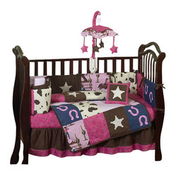 Western Cowgirl 9-Piece Crib Bedding Set
