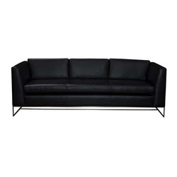 Prima - Mid Century Leather Sofas and Couches Collection - The Sofa Company - The new sleek starlet of The Sofa Company's stage, Prima features compact style with a modern edge. Hip steel legs add flair, finesse and fun.