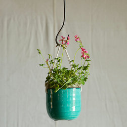 Hanging Bowl Planter, Blue - And if you're lacking floor space for your planter garden, a hanging version can add just as much color and function to your space.