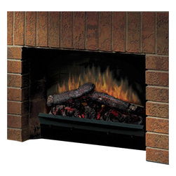 "Dimplex - Dimplex Electraflame 23"" Deluxe Insert with LED Logs - Dimplex - Fireplace Inserts - DFI23106A - The 23"" Deluxe Insert with LED Logs and Antiqued Cast Trim is a deluxe fireplace insert adds the warm feel of a real fireplace to any living area in just minutes. The insert has lifelike LED logs and comes with an on/off remote control."