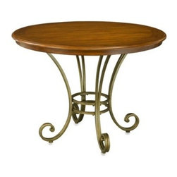 Home Styles - Home Styles St. Ives Dining Table - Encompassing a Country French design, the St. Ives dining table rests atop a scrolled pedestal in a brushed, antique brass finish. Its country charm is enhanced with a cinnamon cherry finish, making it the perfect table to gather round for a family meal.