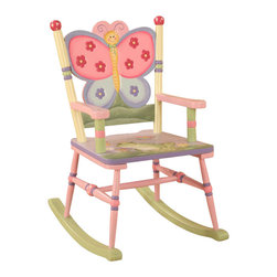 Teamson Design - Teamson Kids Magic Garden Hand Painted Kids Rocking Chair - Teamson Design - Kids Rocking Chairs - W7499A. Have your children rock with a beautifully themed Magic Garden rocking chair. The hand crafted and painted art work will bring the rocker to life! Have your children rock with a beautifully themed Magic Garden rocking chair. The hand crafted and painted art work will bring the rocker to life!