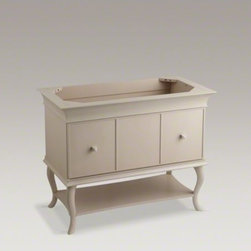 "KOHLER - KOHLER Provinity(R)  42"" vanity - With gracefully curved legs and detailed molding, this Provinity 42-inch vanity showcases traditional design with a modern flair. A spacious, slow-close drawer provides ample space for storage, complemented by a fixed lower shelf for additional storage. A"