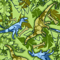 "SheetWorld - SheetWorld Fitted Pack N Play Sheet - Dinosaurs - Made in USA - This luxurious 100% cotton ""woven"" pack n play (large) sheet features a cute dinosaur print. Our sheets are made of the highest quality fabric that's measured at a 280 tc. That means these sheets are soft and durable. Sheets are made with deep pockets and are elasticized around the entire edge which prevents it from slipping off the mattress, thereby keeping your baby safe. These sheets are so durable that they will last all through your baby's growing years. We're called sheetworld because we produce the highest grade sheets on the market today. Size: 29.5 x 42."