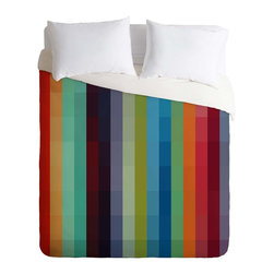 DENY Designs - DENY Designs madart inc City Colors Duvet Cover - Lightweight - Turn your basic, boring down comforter into the super stylish focal point of your bedroom. Our Lightweight Duvet is made from an ultra soft, lightweight woven polyester, ivory-colored top with a 100% polyester, ivory-colored bottom. They include a hidden zipper with interior corner ties to secure your comforter. It is comfy, fade-resistant, machine washable and custom printed for each and every customer. If you're looking for a heavier duvet option, be sure to check out our Luxe Duvets!