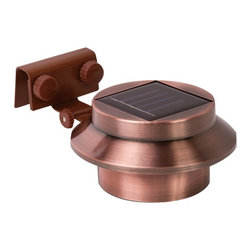 RETHINK - RETHINK 155015 Multipurpose Gutter/Fence Solar Light, 2 pk (Copper) - � Solar powered;� Long-lasting LED bulb technology;� Mounts on any gutter, wall or post;� Easy tilt mechanism for perfect angle;� Illuminates yards, pathways & more without messy wiring or electricity;� 2 pk;� Copper color