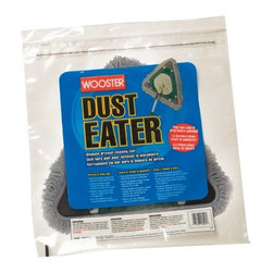 WOOSTER BRUSH - Dust Eater - Attracts and holds dust, cobwebs, and more to clean drywall, ceilings, walls, baseboards, and floors. Covers large surfaces and reaches into corners. Stable 360-degree pivot for full surface contact. Specially treated material for powerful, long-lasting pickup. Size inch = 16