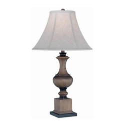 Illumine - White s: Designer Collection 30.5 in. with Off-White Fabric Shade CLI-C41165 - Shop for Lighting & Fans at The Home Depot. This 1-Light table lamp part of the Designer Collection, offers a trendy solution that is sure to satisfy all your lighting needs, by combining a chic bronze finish with a smart styled off-white fabric shade. These functional yet stylish fixtures, will add a renewing element in various decor settings. This table lamp is sure to exceed your expectations.