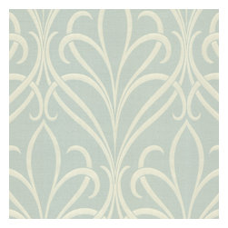Decorline - Platinum (Decorline) Nouveau Damask Wallpaper, Bolt - A coveted green damask wallpaper design with a romantic art nouveau style swirl. Silvery threads and pearlescent mint add a swanky detail. Each wallpaper bolt is 20.5 inches wide and 33 feet long, covering about 56 square feet. The pattern has a 25.2 inch repeat and a Drop match.