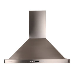 Ariel - Cavaliere-Euro SV218B2-I30 Stainless Steel Island Mount Range Hood - Cavaliere Stainless Steel 218W Island Mounted Range Hood with 6 Speeds, Timer Function, LCD Keypad, Aluminum Grease Filters, and Halogen Lights