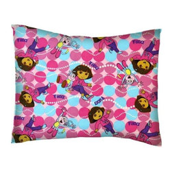 SheetWorld - SheetWorld Twin Pillow Case - Percale Pillow Case - Dora Dots - Made in USA - Twin pillow case. Made of an all cotton woven fabric. Side Opening. Features the one and only Dora the Explorer!