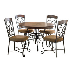 inch round dining room set bring the romantic look of wrought iron