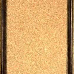 """Framed Cork Board 20"""" x 24"""" - with Bronze Finish Frame with Rounded Panel - 20"""" x 24"""" framed premium cork board produced to meet designer quality standards. This decorative framed bulletin boards are produced using high-precision framing techniques for a high-quality finished product with an extra thick cork surface. Our progressive business model allows us to offer these practical, yet decorative message boards to you at the best wholesale pricing, significantly less than frame shop corkboards, affordable to all. Great for office, conference room, home, kitchen, scheduling, leaving memos, to-do lists, family schedules, kid's art, photos, mementos, reminders, messages, lists, as an organizer, menu, for writing, drawing, classroom, school teacher, coaching and more. This corkboard is mounted into our 2 1/2"""" wide bronze finish frame with rounded panel by one of our expert framers. This framed pinboard comes with hardware, ready to hang on your wall, with the option of hanging horizontally or vertically.  We present a comprehensive collection of exceptional framed cork boards."""