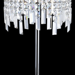 Lite Source - Lite Source Helanie Modern / Contemporary Table Lamp X-72103-LE - Delicate panel crystal shades feature staggered prism curtain with modern chrome finish metal body brings an exquisite illumination to anysetting.