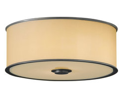 Murray Feiss - Murray Feiss FM291DBZ Casual Luxury Transitional Flush Mount Ceiling Light - Whether your decorating theme is traditional or contemporary, there is a place for this unique and stunning collection. The organza shades and plated dark bronze finish demand attention to the fine details of these fixtures. The wall brackets and sconces have a dual back plate for a dimensional design accent, and spun metal trim rings at the top and bottom of the shade lend a finishing touch. All of the shades on these wonderful fixtures are enclosed at the bottom for a lovely casting of light.