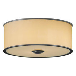 Murray Feiss - Murray Feiss Casual Luxury Transitional Flush Mount Ceiling Light X-ZBD192MF - In a drum-like shape, the elegant contours of the bronze organza fabric shade with hardback are emphasize by the top and bottom metal trim rings with dark bronze finish. The Murray Feiss Casual Luxury Transitional flush mount ceiling light displays a lovely luminance with a soft glow to the stylish living space.