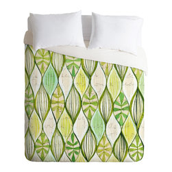 DENY Designs - Cori Dantini Green Duvet Cover - Turn your basic, boring down comforter into the super stylish focal point of your bedroom. Our Luxe Duvet is made from a heavy-weight luxurious woven polyester with a 50% cotton/50% polyester cream bottom. It also includes a hidden zipper with interior corner ties to secure your comforter. it's comfy, fade-resistant, and custom printed for each and every customer.