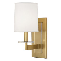 Robert Abbey - Alice Wall Sconce, Antique Brass - -1-60W Max.