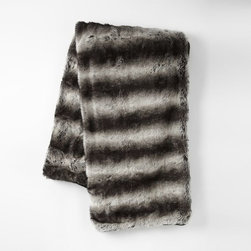 Faux Fur Throw, Ombré - This is what happens when you love both stripes and ombré. I have a throw like this on my couch, and it's an instant magnet for guests and cats.