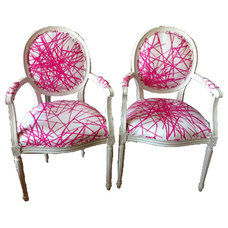 eclectic armchairs by Furbish Studio