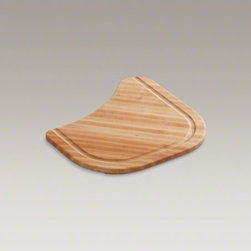 KOHLER - KOHLER Hardwood cutting board for Undertone(R) kitchen and bar sinks - Crafted from durable hardwood for a beautiful color and long-lasting performance, this cutting board brings convenience to your kitchen. It is specially sized to fit over select Ravinia(TM) and Undertone(R) basins.