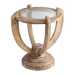 Cyan Design - Cyan Design 06343 Limed Gracewood Haswell Table - Cyan Design 06343 Limed Gracewood Haswell Table