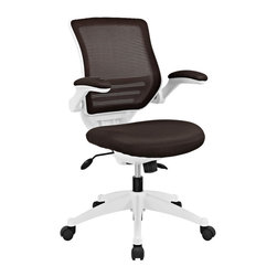 Edge White Base Office Chair - Welcome to a new era in functional comfort. The Edge office chair combines old time charm with cutting edge ergonomics to deliver one comprehensive seating experience. Every feature imaginable in a chair is available as soon as you sit down. This is a chair that you can conform to behave exactly how you need it. The Edge Office Chair - giving you the comfort you need when you need it most.