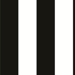 Large Stripe in Black and White - BW28748 - Collection:Norwall Black & White 2