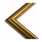 The Frame Guys - Gold Beaded Edge Picture Frame-Solid Wood, 13x19 - *Gold Beaded Edge Picture Frame-Solid Wood, 13x19