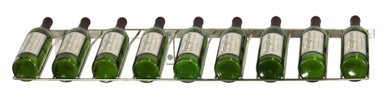 VintageView - VintageView 9 Bottle Presentation Wine Rack, Brushed Nickel - Create a wall wine rack system anywhere. Decorative, reliable and flexible metal wine racks from VintageView. Showcase your wine, not the racks. We are proud to be the best dealer of VintageView products in America, and we back our position with unsurpassed customer service.
