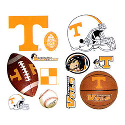 York Wallcoverings - NCAA Tennessee Volunteers 24pc College Wall Accent Stickers - Features: