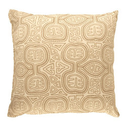 "Sunbrella® 24""x24"" Square Designer Pillow, Kuna Sand - Making the best relaxation that much better! Soft. Plush. Vibrant. Attractive. Durable. Colorfast. These pillows promise lasting outdoor comfort you won't want to take your eyes or head off of! The stylish 24""x24"" Sunbrella® Kuna Sand Square Designer Pillow is sure to liven up any backyard and to provide instant comfort for relaxation. Perfect for hammocks, benches, chairs, sofas, futons, chaise lounges, and more."
