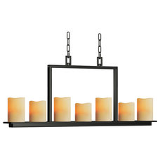 Shop allen + roth 7-Light Hartwick Oil Rubbed Bronze Chandelier at Lowes.com