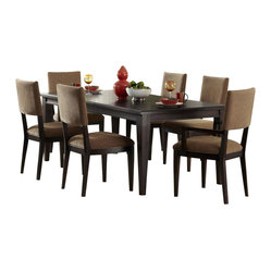 Liberty Furniture Visions 7 Piece 84x42 Dining Room Set in Mocha, Dark Wood