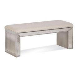 Basett Mirror - Murano Bench - Murano Bench. 44 x 16 x 19 H