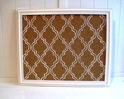 Bulletin Board, White Mediterranean Pattern by Trade Fare - Bulletin boards are total school chic. I think every classroom has a cork board in it. Put photos, post cards or things to remember on them.