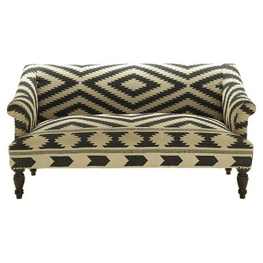 Eco Friendly Furnture and Lighting - KILIM SOFA BLACK & WHITE.