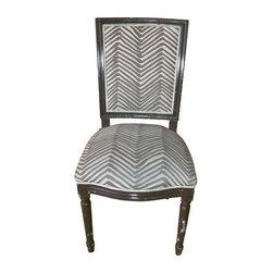 Custom Chocolate Brown Pauline Side Chair - Dimensions 18.0ʺW × 19.5ʺD × 38.0ʺH