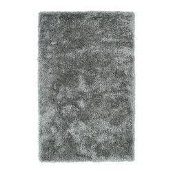 """Kaleen - Kaleen Posh Collection PSH01-77 2'3"""" x 8' Silver - Posh is the perfect rug to make your feet say ooh and ahhh!! Super plush and silky to the touch, this hot new shag rug is exactly what your room has been asking for! Find the perfect spot to curl up on after a long day or bring in your favorite pop of color for a complete room makeover. The Posh collection allows for diversity and fashionable style for all of your decorating needs with over 20 colors to choose from. Each rug is handmade in China of the finest 100% polyester."""