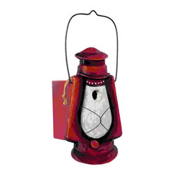 Outside Inside - Hurricane Lantern Birdhouse - Hurricane Lantern Birdhouse. Made of hand crafted wood.