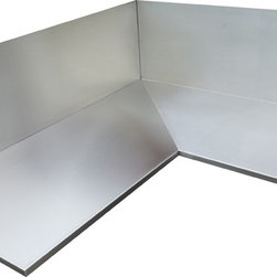 Stainless Steel Counter Top #4 Finish - Welded corner detail. Seamless look.