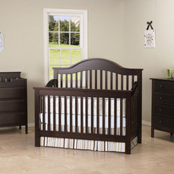 """DaVinci - Jayden 4-in-1 Convertible Crib Set with Toddler Rail - Designed after one of our most popular collections that are found exclusively online only, this Jayden 4-in-1 Convertible Crib now gives you the flexibility to convert it to a full size bed as well. As your baby grows, there are multiple configurations for a wealth of options. Convert the crib to a toddler bed with a safety guard rail that is included or remove the safety guard rail for a charming day bed, perfect for the playroom. Fast forward a few years, and poof  the crib transforms into a full size bed to adapt to your growing child. Furnish your complete nursery with any of the Jayden case pieces. The complete look and craftsmanship would add sophistication to any nursery. Features: -Jayden collection. -Adjustable 4-level mattress spring system . -Toddler quard rail kit, full size headboard and footboard included. -Full size bed rail kit sold separately . -Features a static side with no moving parts. -3-Drawer changer includes changing pad and safety strap. -Optional bookcase has four shelves and a drawer. -Constructed from New Zealand Radiata Pine Wood . -This is a NON-Drop Side crib. Dimensions: -Dresser: 41.75"""" H x 37.38"""" W x 21.5"""" D, 69 lbs -Crib: 70.25"""" H x 58.25"""" W x 30.75"""" D. About New Zealand Radiata Pine Wood: Radiata Pine, better known as 'New Zealand Pine' is a softwood tree that contains many properties that make it very suitable for furniture and furniture making. It has a density equal to that of hardwoods like poplar, mahogany and oak. Its uniform density ensures a smooth and consistent texture and confers its excellent machining, painting and staining properties; there is almost no variation in color between pieces. DaVinci's pine wood originates from forests maintained by managers that enforce environmental responsibility and the conservation of forest wildlife. ***Please note that these products cannot be shipped to Alaska, Hawaii, or Puerto Rico. We apologize for the inconvenie"""
